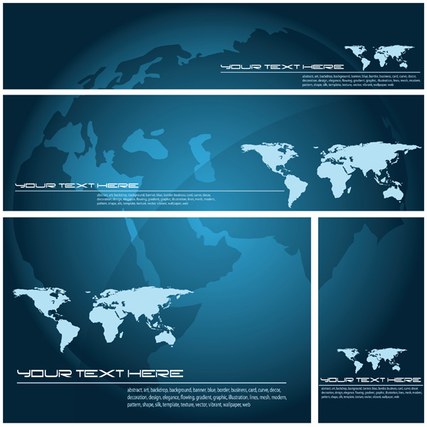 Blue vector world map background free vector 4vector free vector blue vector world map background gumiabroncs Image collections