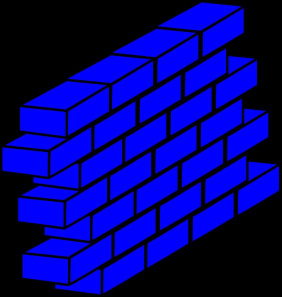 free vector Blue Wall clip art