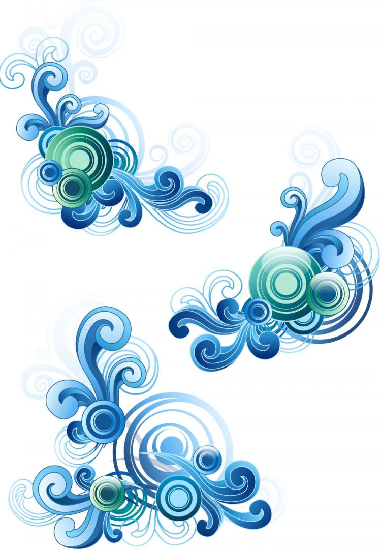 free vector Blue waves graphics vector