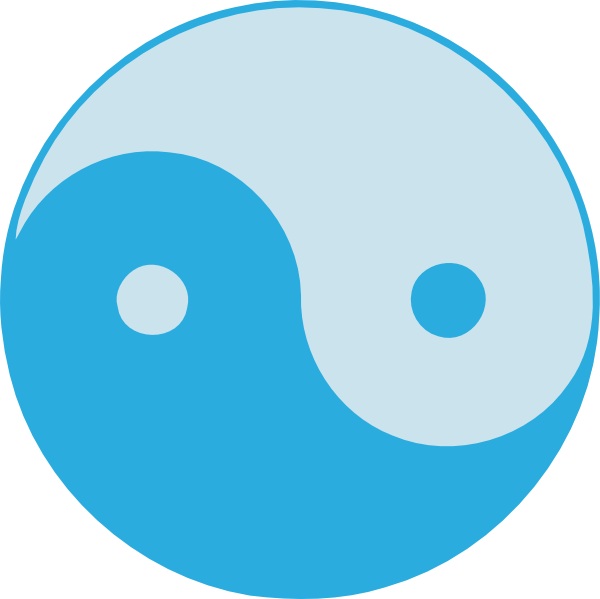 free vector Blue Yin Yang clip art