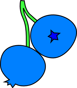 free vector Blueberries clip art