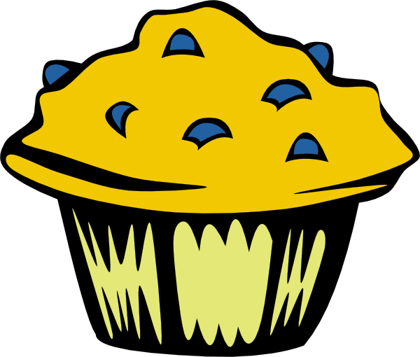 free vector Blueberry Muffin clip art