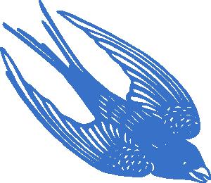 free vector Blueswallow clip art