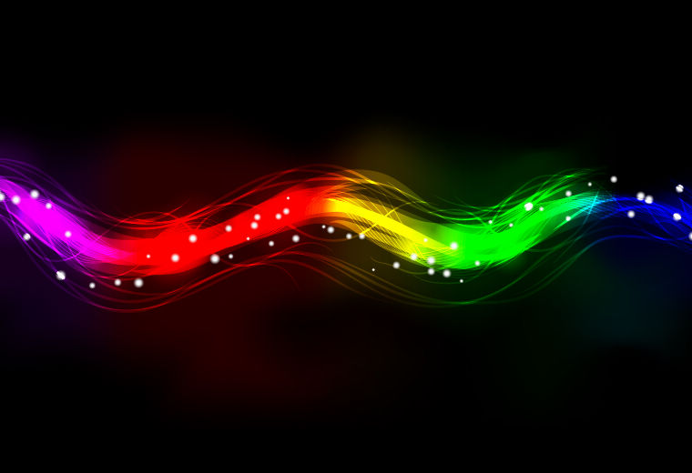 free vector Blurry Abstract Neon Spectrum Light Effect Background
