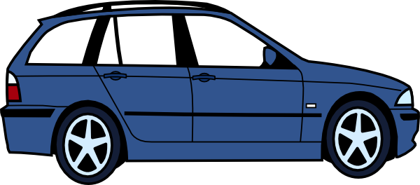 free vector Bmw Touring clip art