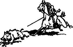 free vector Boar Hunt Cowboy Horse clip art