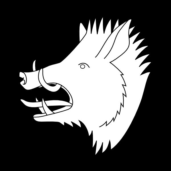 free vector Boar's Head clip art