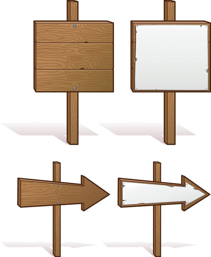 free vector Board signs vector