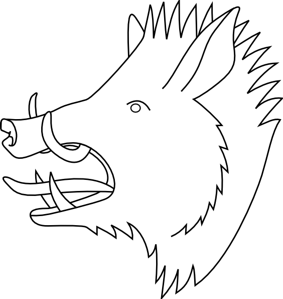 free vector Boars Head clip art