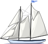 free vector Boat Sail Sideways clip art
