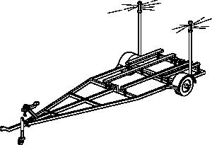 free vector Boat Trailer clip art