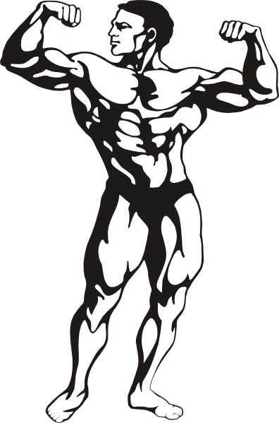 Muscle man clip art royalty free