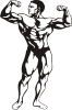 free vector Body Builder clip art