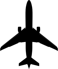 free vector Boeing Plane Silhouette clip art