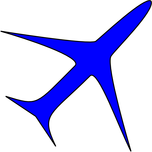 free vector Boing Blue Freight Plane Icon clip art