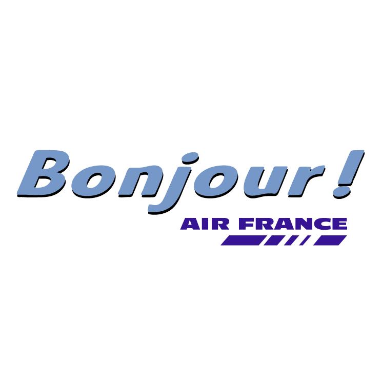 free vector Bonjour