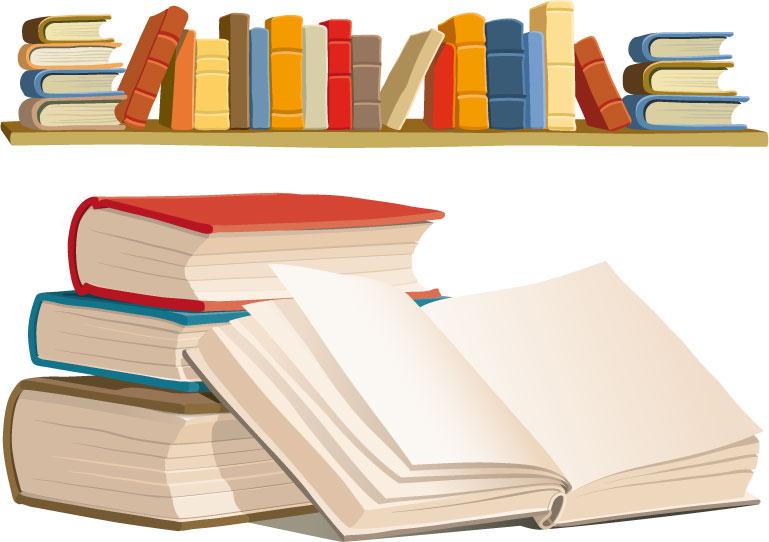 free vector Book shelves vector