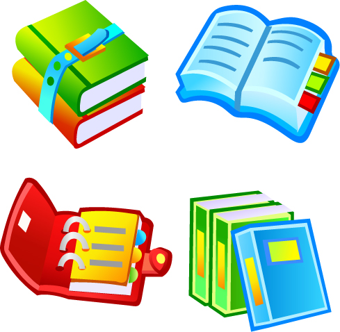 free vector Books and food lock link icon vector