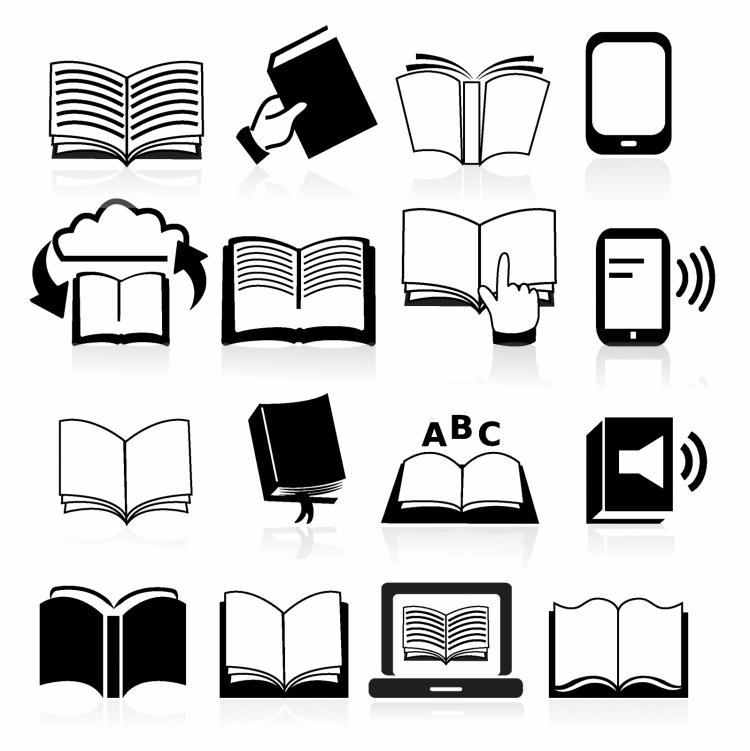 free vector Books black