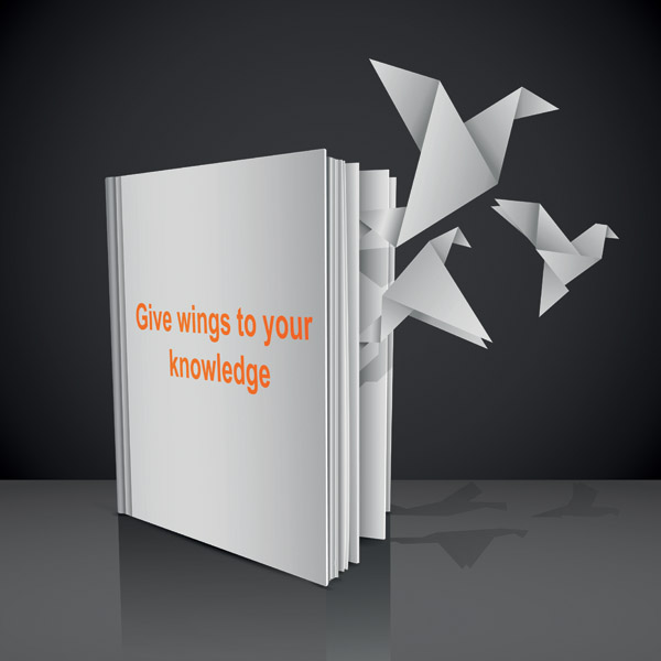 free vector Books out of paper cranes fly vector