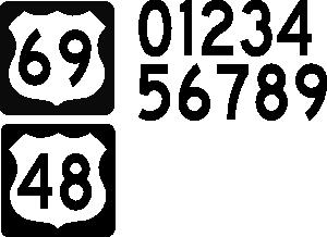 free vector Boort Us Highway Sign clip art