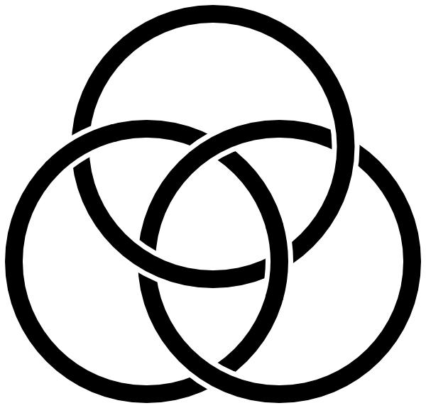 free vector Borromean Rings clip art