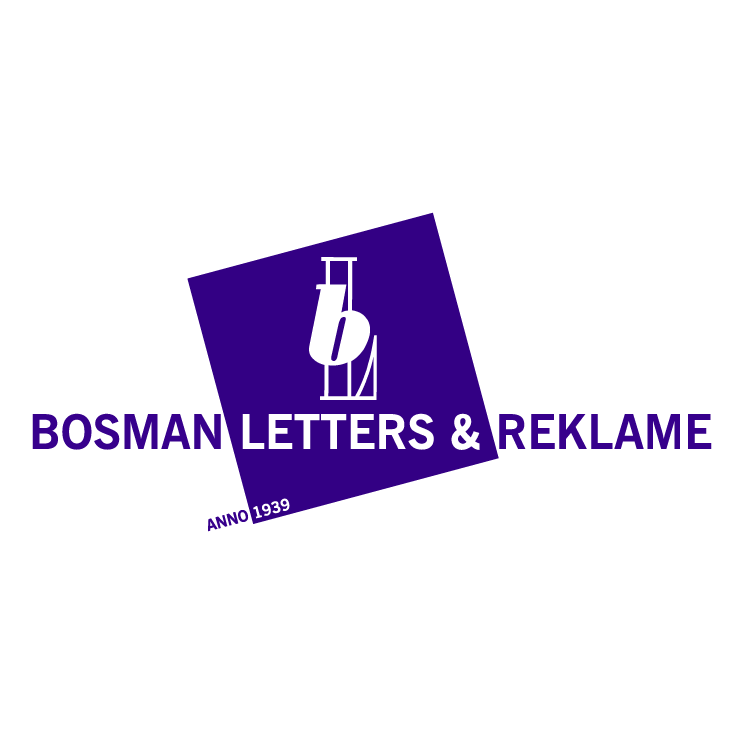 free vector Bosman letters reklame 0