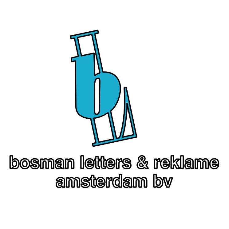 free vector Bosman letters reklame