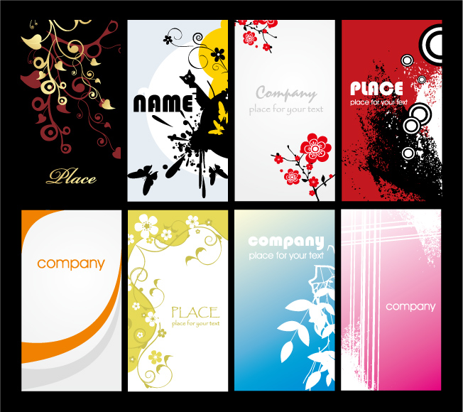 free vector Both the simple and the trend card background vector background