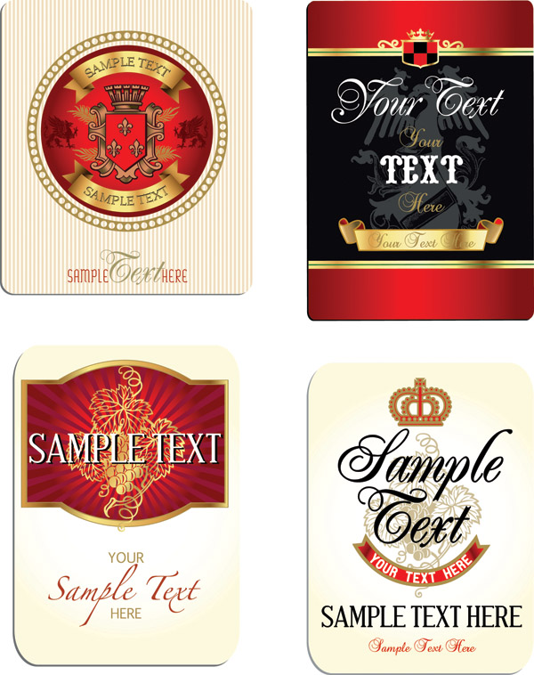 free vector Bottle label affixed vector