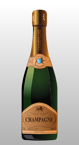free vector Bottle Of Champagne clip art