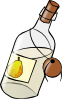 free vector Bottle With Moonshine clip art