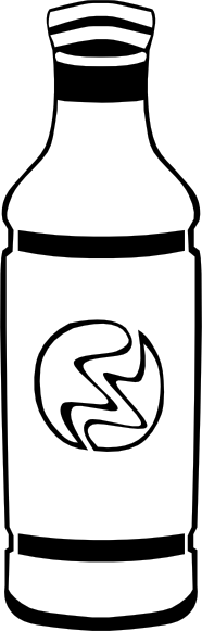 free vector Bottled Drink (b And W) clip art