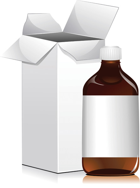 free vector Bottles and cups vector
