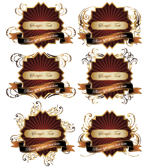 free vector Bottles of fine label amp paste clip art