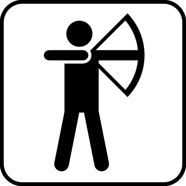 free vector Bow Arrow Sports Land Recreation Symbols clip art