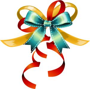 free vector Bow ribbon card vector