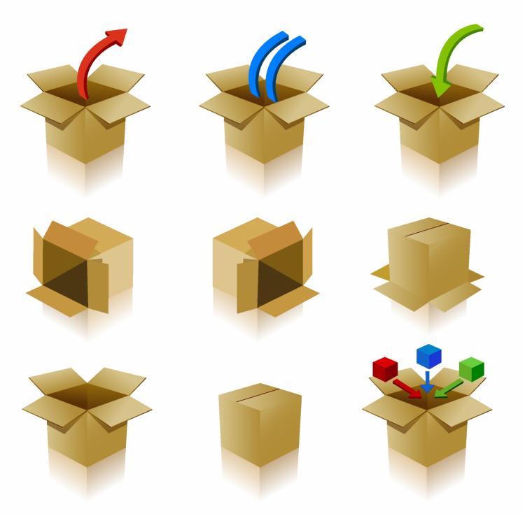 free vector Box icons