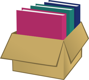 free vector Box With Folders clip art