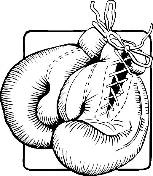 free vector Boxing Gloves Outline clip art
