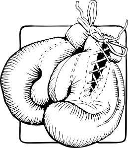 Boxing Gloves Outline clip art Free Vector / 4Vector