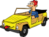 free vector Boy Driving Car Cartoon clip art