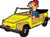free vector Boy Driving Car Cartoon clip art