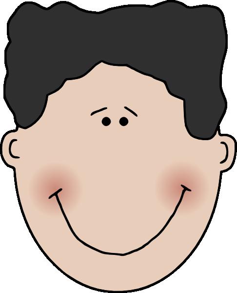 Boy Face clip art Free Vector / 4Vector