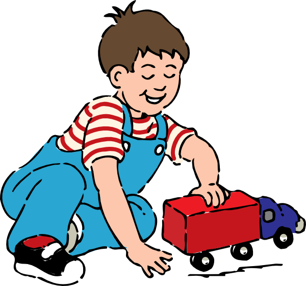 boy playing with toy truck clip art free vector 4vector rh 4vector com clip art playing clip art playing cards