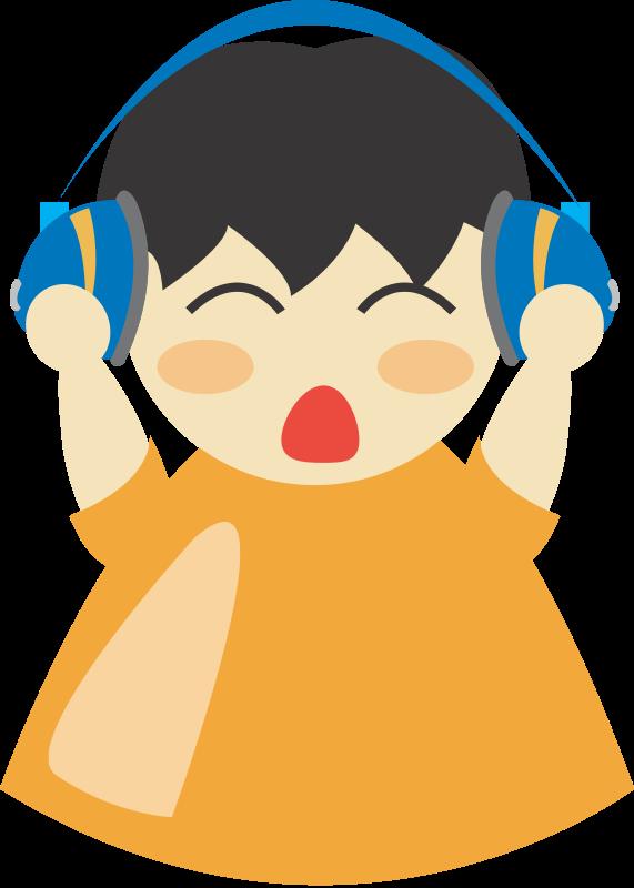 free vector Boy with headphone2