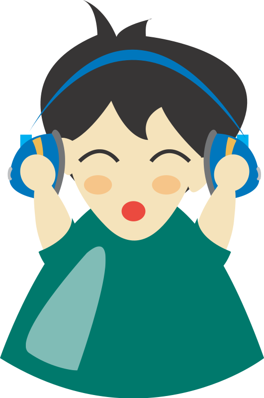 free vector Boy with headphone4