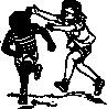 free vector Boys Running clip art