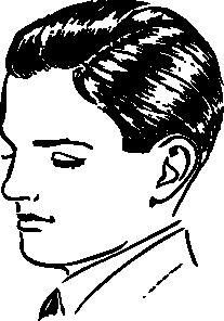 free vector Boys Side Part clip art