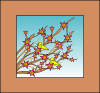 free vector Branches Flowers Birds clip art